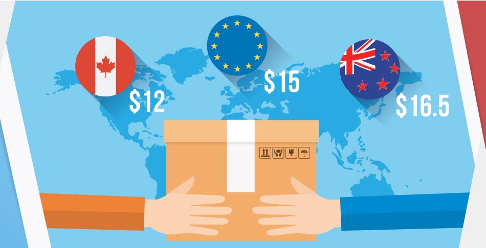 Посылка из Украины в Канаду до 200 грамм - 12 долларов за 10 дней