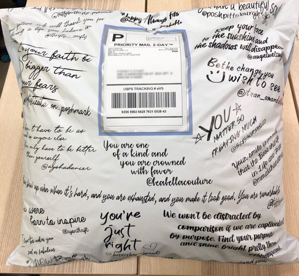 пример упаковки посылки в США